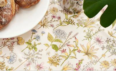 Flowers Printed Laminated Cotton Fabric Made In Korea By The Yard
