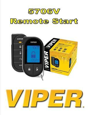 DEI Viper 5706V 2-Way Car Security with Remote Start System 5706 LCD Remote