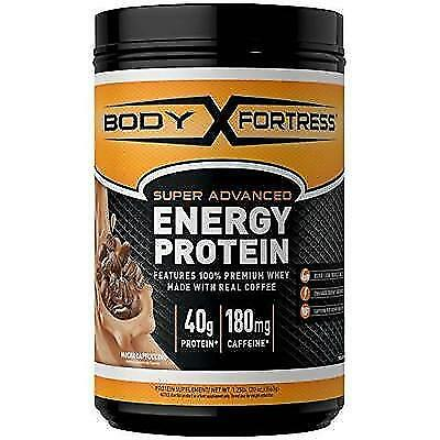 Body Fortress Energy Protein - Mocha Cappuccino, 1.25 Pounds New
