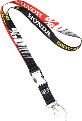 100% GEICO Honda Officially Licensed LANYARD (Black)