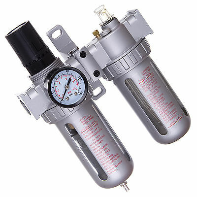 """1/2"""" Air Line Regulator Lubricator and Water Trap With Filter 40um 1750 l/min"""