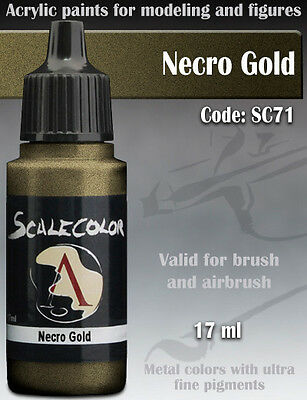 Acrylic Paint - NECRO GOLD Metal - Scale75 SC-71 - 17ml for Hobby brush airbrush