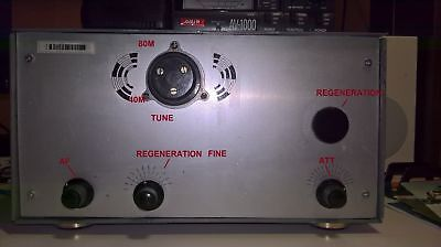 4 tube HF 80/40M regenerative receiver AM/SSB/CW with PS