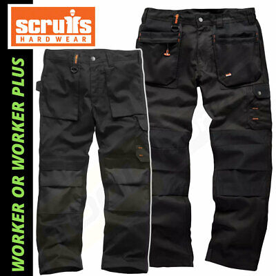 Scruffs WORKER PLUS Trousers | Trade Hard Wearing Work Trousers BLACK