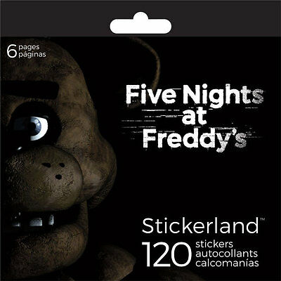 Five Nights at Freddy's Sticker Pad, 120 Stickers on 6 Sheets Party Bag Fillers