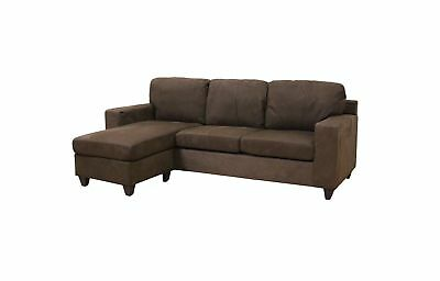 Acme Vogue Microfiber Reversible Chaise Sectional Sofa Pebble Green Couch  New