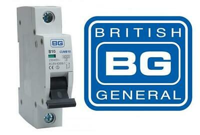 BG Nexus British General MCB Circuit Breaker Fuse 6-50 Amp Single Pole 230/400
