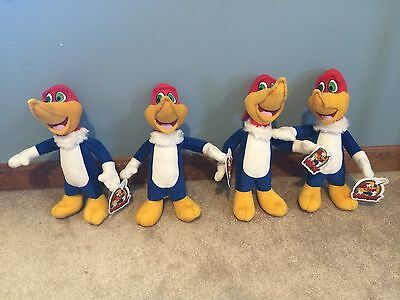 4 Rare Toy Factory Woody Woodpecker Plush Toys! Nwt!