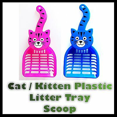 Cat Kitten Plastic Litter Tray Scoop Spoon 2 Colours  Waste Scooper Poop Shovel