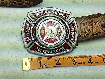 1943-1993 JOHANNA FIRE DEPT. 50TH ANNIV Fireman's Prayer Belt Buckle & BELT