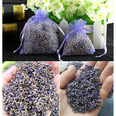 Pop 5*s Real Lavender Organic Dried Flower Sachets Bud Bloom Bag Scent Fragrance