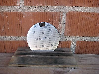 """Vintage 3 1/4"""" Diameter ***   Silicon WAFER   *** Early Computer Chip Technology"""