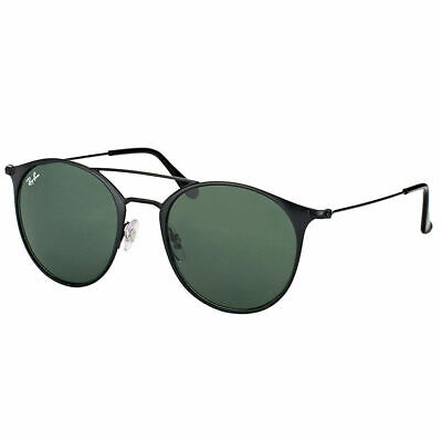 9e41a10121f New Ray-Ban RB 3546 186 49mm Black Top Matte Black Round Sunglasses Green  Lens