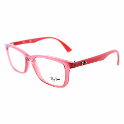 779e0736d75 Ray-Ban RY 1562 3687 Transparent Red Plastic Rectangle Childrens Eyeglasses  48mm