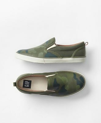 GAP Kids / Toddler Boys NWT Size US 13 Camo / Green Slip-On Sneakers Shoes