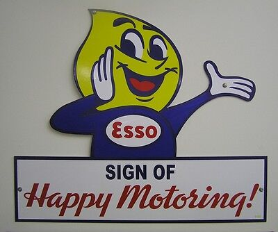 Esso Happy Motoring Greeting Sign