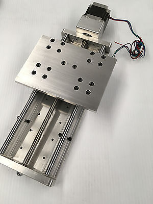 "CNC Z axis Slide 8"" travel Anti-Backlash and supported linear bearings rails"
