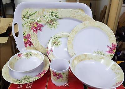 Tailored Melamine Dinner Service Cups Camping Tent Picnic Plates Trays Bowls