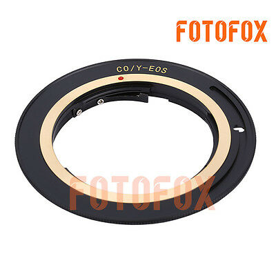 CY-EOS forContax Yashica C/YCY Lens to Canon Eos EF EFS adapter for 50D 60D 600D