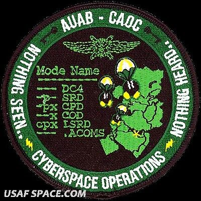 Afcent Combined Air Operations Center -Al Udeid Air Base- Cyberspace Op's -Patch