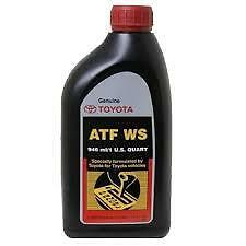 Genuine Toyota Automatic Transmission Fluid 1QT WS ATF World Standard (2 Pack)