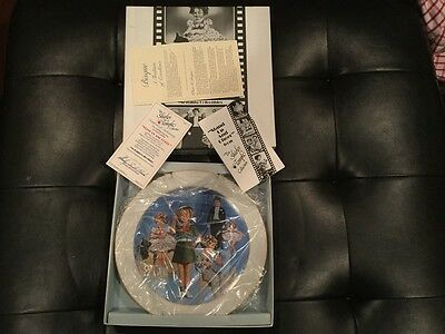 """Shirley Temple Autographed Signed Collector's Plate """"Stand Up and Cheer"""" #2302"""