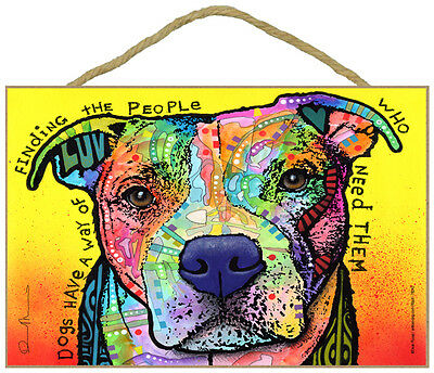 Pit Bull Dogs Have A Way Of Finding The People Dean Russo Dog Wood Plaque Sign