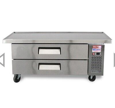 """CHEF BASE 60"""" Refrigerated Grill Stand 2 Draw Equipment Table TRCB-60-52 Drawer"""