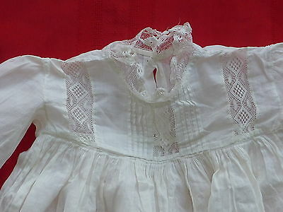 Vintage Infant Christening Dress Baby Girls Boys Baptism Gown White Lace (Lot1)