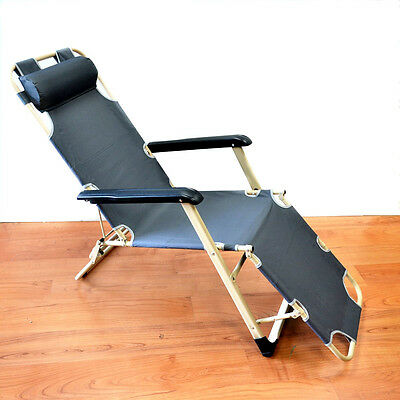 New Folding Beach Outdoor 3-Postion Camping Stretcher Bed Lounge Chair