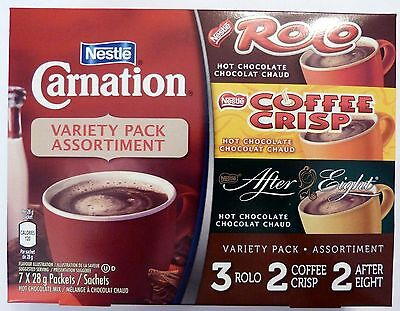 Carnation Hot Chocolate Variety Pack Coffee Crisp Rolo After Canada / Canadian