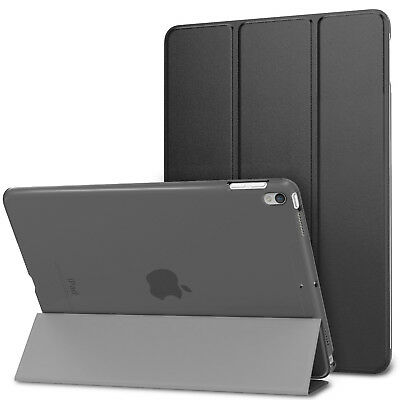 """Smart Magnetic CASE with Hard Back Cover for IPAD 6 9.7"""" 2018 Black A1893 A1954"""