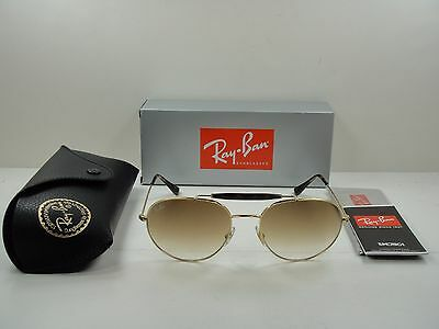 cc271d8e64c36 Ray-Ban Sunglasses Rb3540 001 51 Gold Frame Light Brown Gradient Lens 56Mm