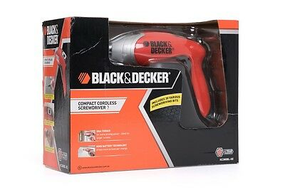 Black & Decker 3.6V Compact Cordless Screw Driver with Bits & Battery Electric
