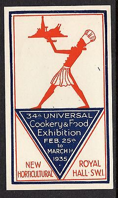 Great Britain 1935 Cookery & Food Exhibition poster stamp