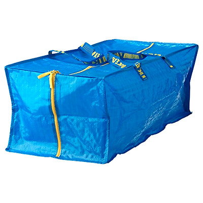 Ikea Frakta Storage Bag,Extra Large - Blue -- 4 PACK - Free 2 Day Shipping