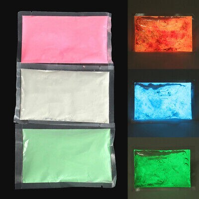 50g Bright Luminous Glow-in-the-Dark Powder Glow Pigment Strontium Aluminate DIY