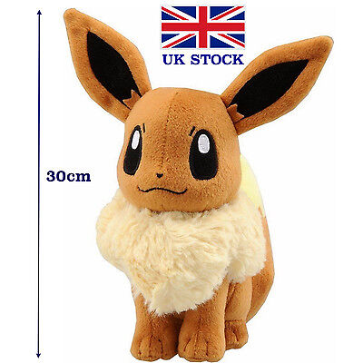 Pokemon Eevee Plush Doll Anime Figure Cosplay 30cm 12inch Teddy - UK STOCK !!!