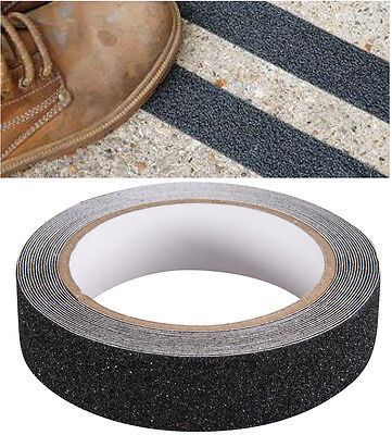 Anti Slip Tape High Grip Adhesive Backed Non Slip Floor Safety Grit Black