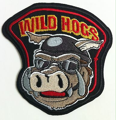 "4"" Wild Hogs Harley Owner Group Motorcycle Biker Club Iron On Vest Jacket Patch"