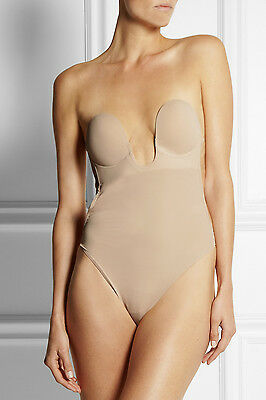 New Fashion Forms U Plunge Backless Strapless Bodysuit in Nude XL