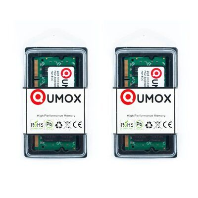 QUMOX 4Go(2x 2Go) DDR2 667 PC2-5400 PC2-5300 2 Go (200 PIN) SODIMM Mémoire 4gb