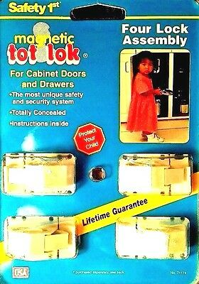 Safety 1st Magnetic TOT-LOK Kit Four Lock Assembly