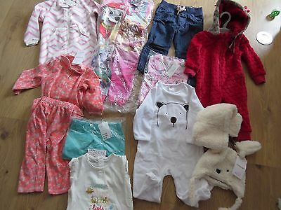 New Bundle of 10 x Baby Girl Clothing 12-24 mth, Vertbaudet, H&M + other BB22
