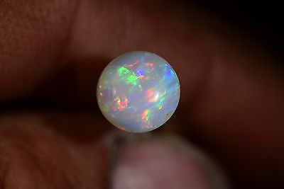 GEM QUALITY ROUND Australian Coober Pedy Solid Natural Genuine Fire Opal 1.3Cts