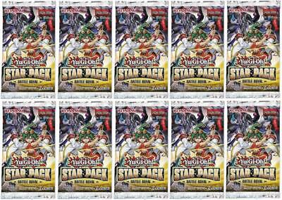 YuGiOh! Star Pack Battle Royal 1st Edition New And Sealed Booster Packs x10