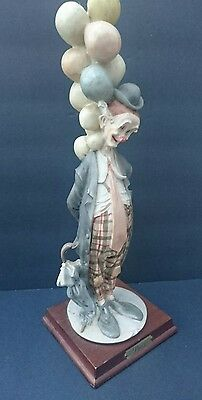 Vintage Pucci Arnart Clown with Balloons Italian Figure Statue