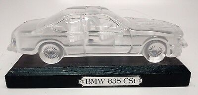 Crystal BMW 635 CSi Automobile Model Car Collectible for Display & Board Stand