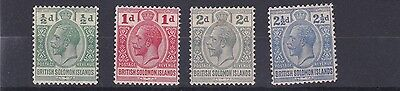 British Solomon Is  1914 - 23  Sg  22 - 27    Various Values To 2 1/2D     Mh