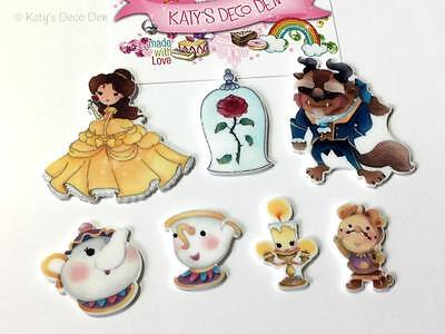 Exclusive Flatback Resin Cartoon Character Beauty Beast Style Cabochons Decoden